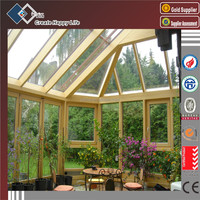 Toughened Glass Aluminum Frame Glass Sunroom,Aluminium Glass Sunrooms