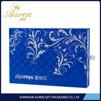 transparent UV coating printed gift jewelry boxes for ring handmade