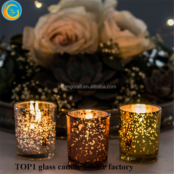 Popular Event and Wedding shiny Star Effect Glass Candles Home Decoration