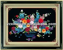 hand embroidery design,flowers ribbon embroidery stitches craft.21-01