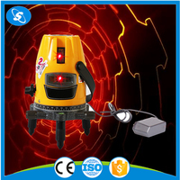 Cheap red beam rotary multi line self leveling laser level line pointer machine