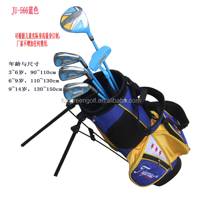 Profession OEM Graphite Complete Golf Club Set for Junior,kids with 5 pcs Club,Right and Left Hand Club