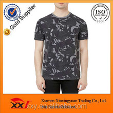 Mexico garment manufacturers Black and white camo wash t-shirt oversized tshirt wholesale men