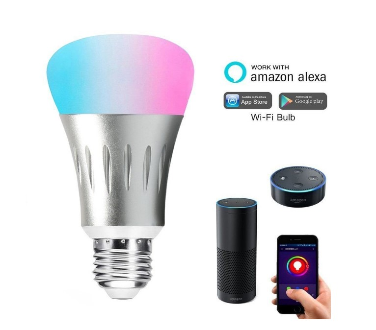 2019 hot new products smart home lighting wireless WIFI RGB led lights led wifi E27 smart light <strong>bulb</strong> made in China