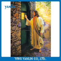 3D lenticular plastic pictures of jesus christ knocking at the door