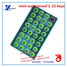 Customize NECC code/ RC5 Protocol 32 Keys Mini Waterproof ir remote control for Audio/Video with CR2025 Button battery
