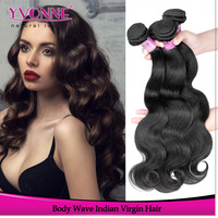 Wholesale unprocessed virgin body wavy indian hair cheap