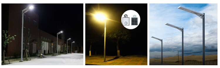 application of integrated all in one solar street light