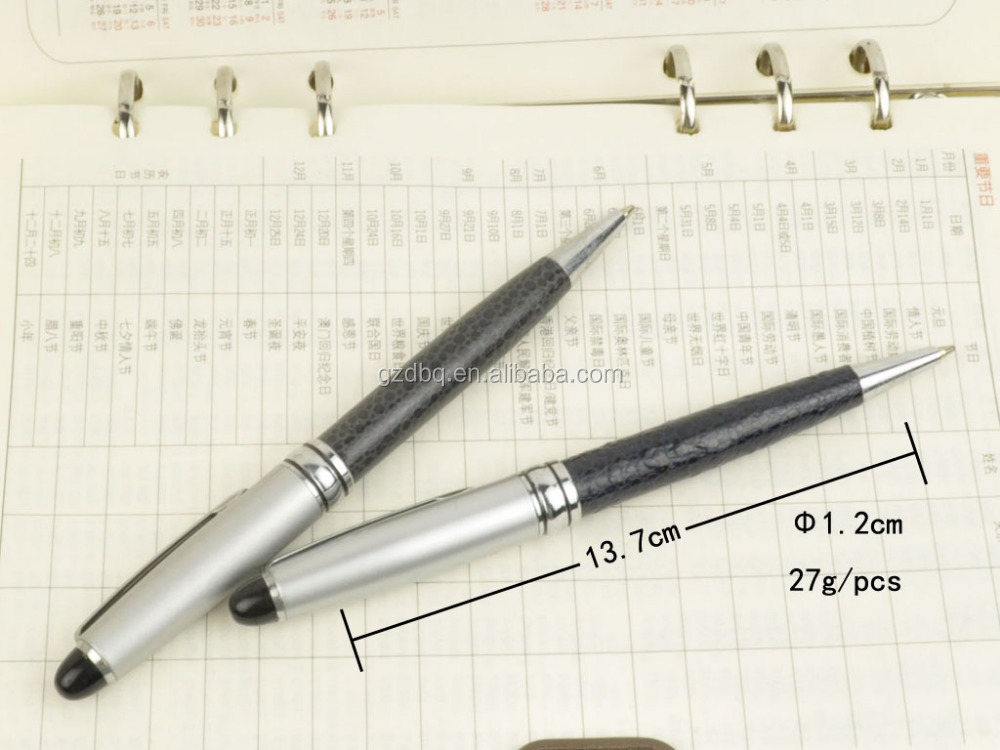 Pormotioinal high quality roller heavy metal leather ball pen