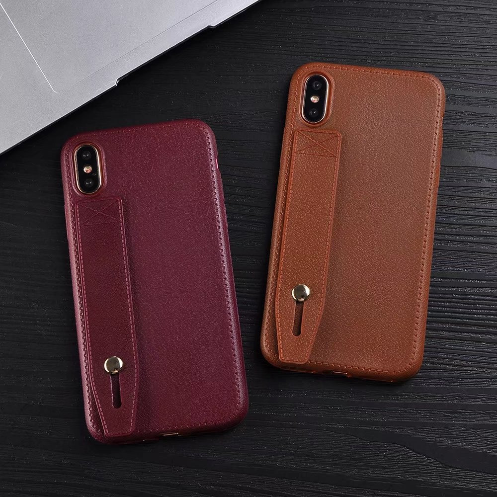 Newest Leather Cloak Soft TPU Fitted Business Phone Shell Case for Apple iPhone X