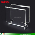 High transparent acrylic literature holder plexiglass magazine stand with foot