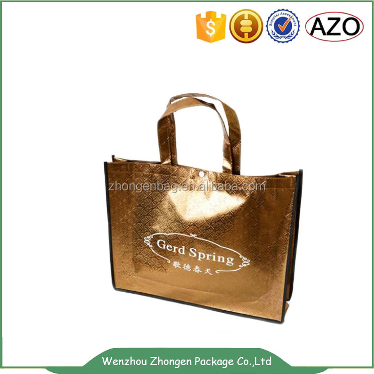 Golden luxury design packing carry bag