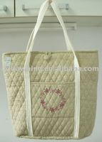 Embroidered tote bag fashion bag