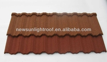 classic roofing types of color stone coated metal roof sheet corrugated roofing