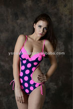 2014 Hottest!Sexy girl's one piece swimwear with spot