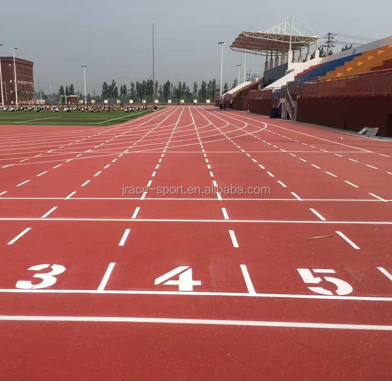 spray coat synthetic 13mm rubber running track