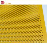 Punching hole plastic coated aluminum perforated metal sheet for decoration