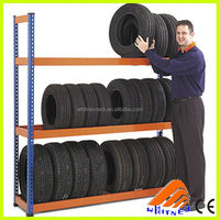Vertical tire rack stacking racks , metal display tire shelf,Cde armazenamento de pneus