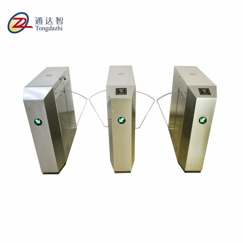 304 stainless steel rfid access control system flap barrier gate