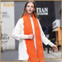 Top fashion OEM quality custom winter wool knitting scarf with many colors