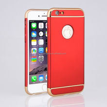 Luxury Hard Aluminum Metal Frame Phone Accessories Hard Cover + Logo Phone Case For Apple iphone 5 5S SE / 6 S 7 Plus