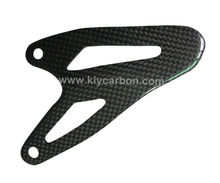 Carbon fiber heel plates motorcycle part for Ducati