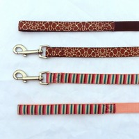 Fashion Nylon Dog Leash,Strong Dog Leash Metal Clips for Big Dog,Zinc Alloy Dog Leash Hook