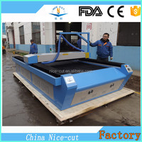 flatbed MDF shapes laser cutting machine co2 100w glass tube NC-C1325