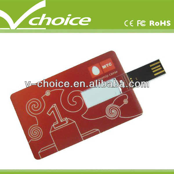 promtional gift credit card usb flash drives 2gb