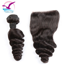 Can Be Dyed Loose Wave 6A Virgin Peruvian Human Hair Extension