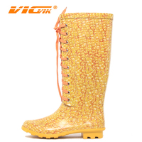 women sexy orange rain boots lace up ,rain boot made of rubber