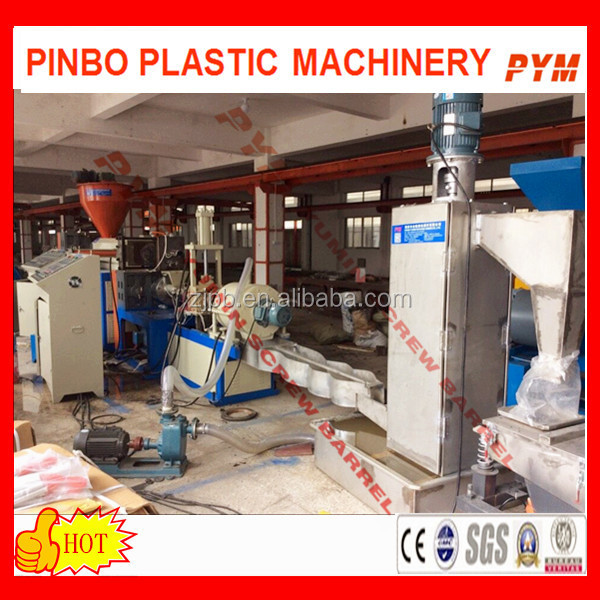 Recycling machinery with high output