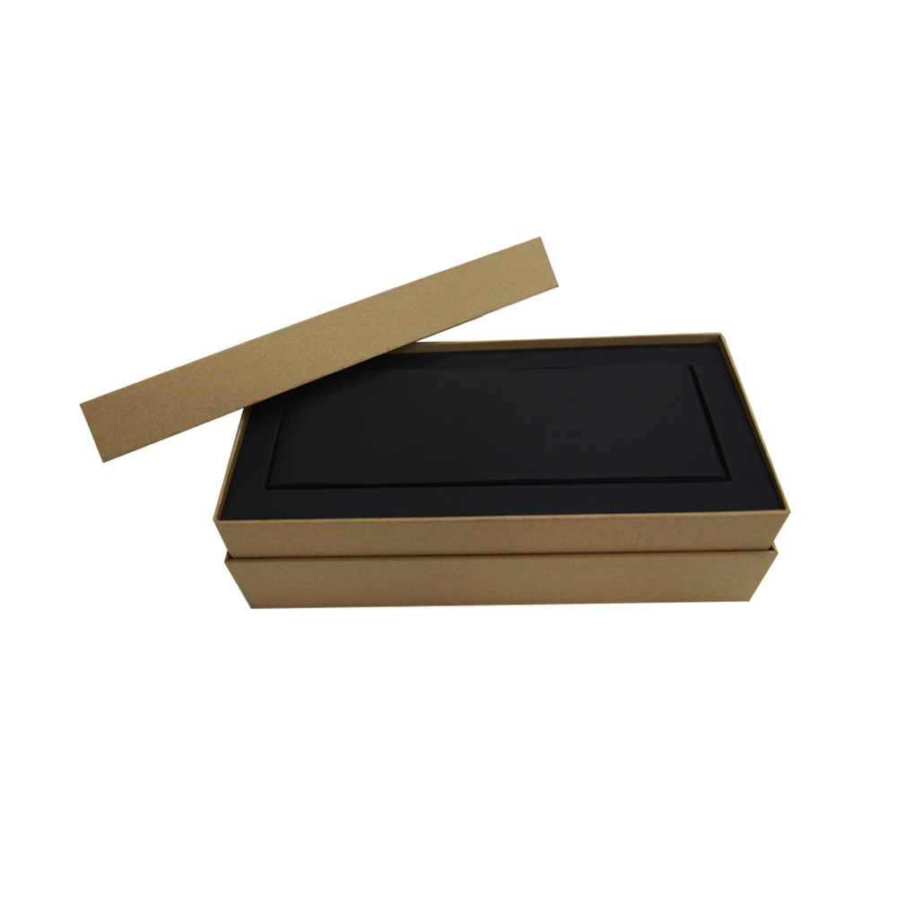 Low Moq Custom Kraft Paper Cardboard Boxes For Packing with paper inner tray
