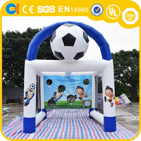 Inflatable Sport Game Football Dart , Inflatable Football Shooting Goal, Popular Soccer Games