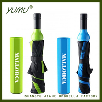 Logo Print Custom Wine Bottle Umbrella