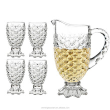 FALAJA beautiful drinking glass set with glass cups and jug tea pot