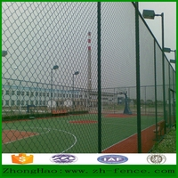 Hot sale high quality galvanized and PVC coated playground fence / Chain link yard fence