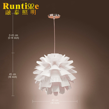 Modern light Plastic pendant lamps for living and dining room PC lamp shade