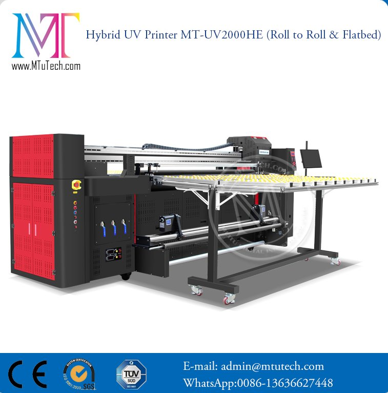 Leather LED UV Printer Hybird Roll to Roll Flatbed UV LED Printing Machine