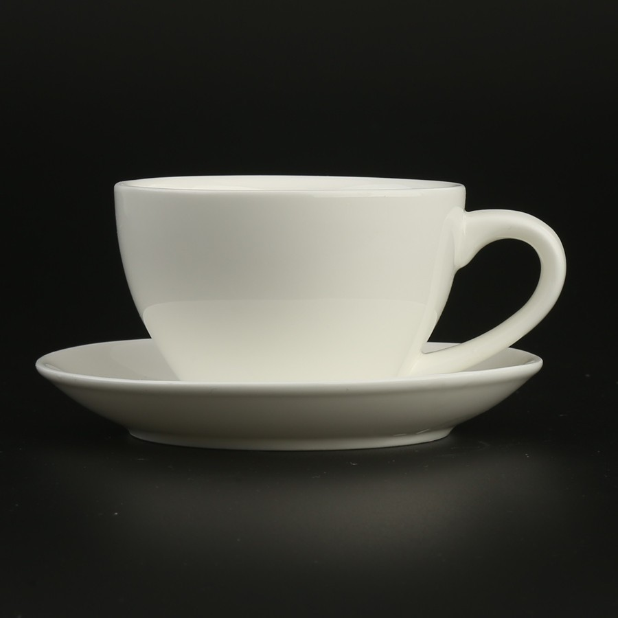 4.5oz 125cc modern antique Porcelain Small Coffee Tea Cups and Saucers Sets