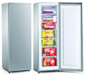 Factory single door dc solar 24v upright freezer/ vertical freezer 198liters BD-198F