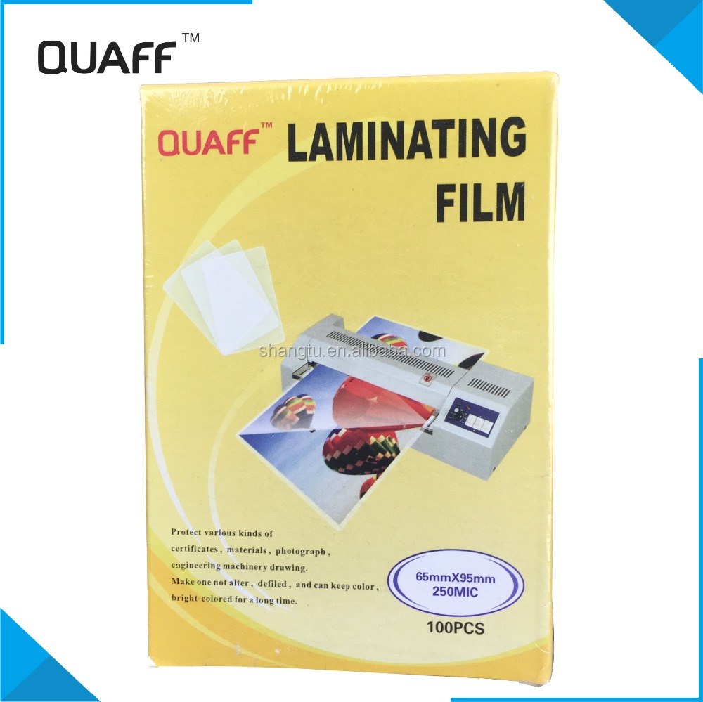 QUAFF high quality lamintion film for photo ,waterproof