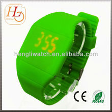 Hot sell hand touch screen led silicone watch