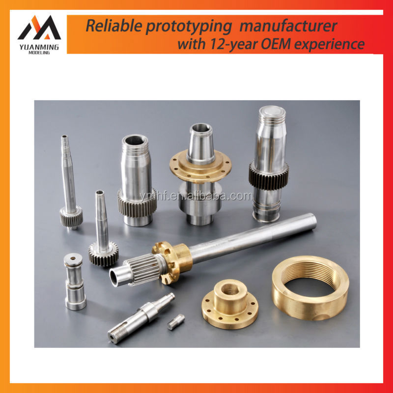 precision aluminum joint components metal brass polishing machining nature anodized