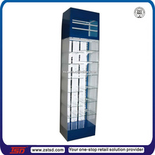 TSD-W309 Custom free standing cosmetic glass vitrine display cabinet/cosmetic showcase stand/glass-fronted display cabinet