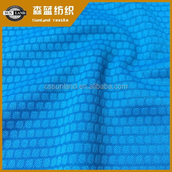 2017 high quality jacquard knitting fabric fashion double sided knit fabric
