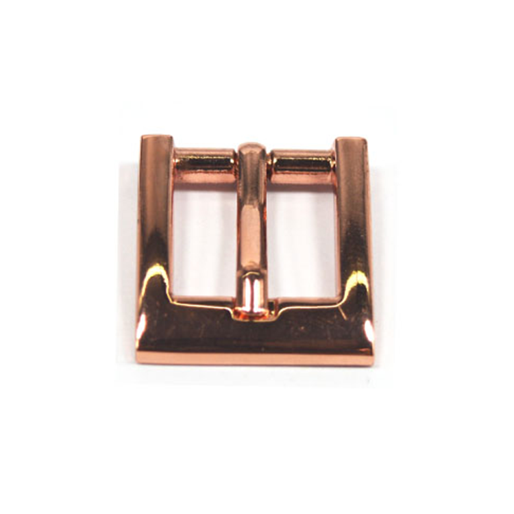 Bag making part hardware accessories Rose gold metal pin belt buckle with clips