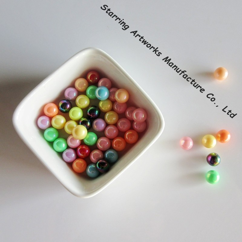 Wholesale Bulk 8MM Colorful Round Glass Beads Without Hole