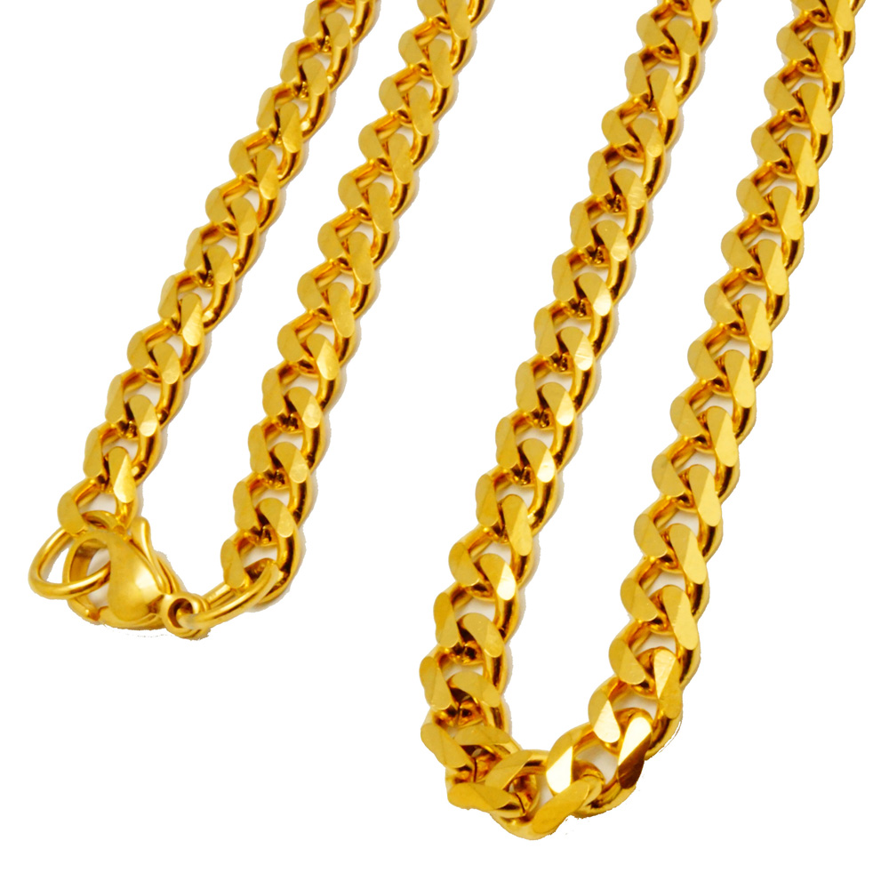 Gold chain japanese characters