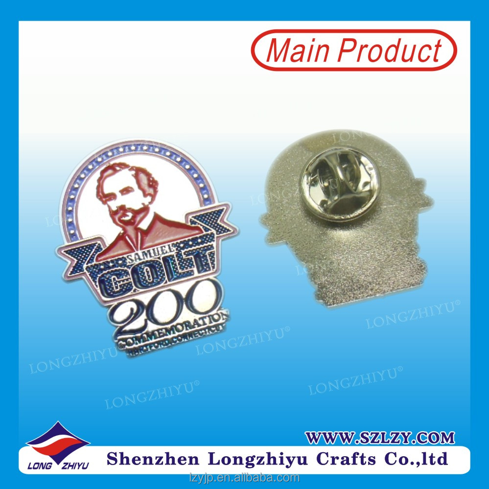 Manufacturer Customized Metal Lapel Pin Badge Commemoration Silver Badge